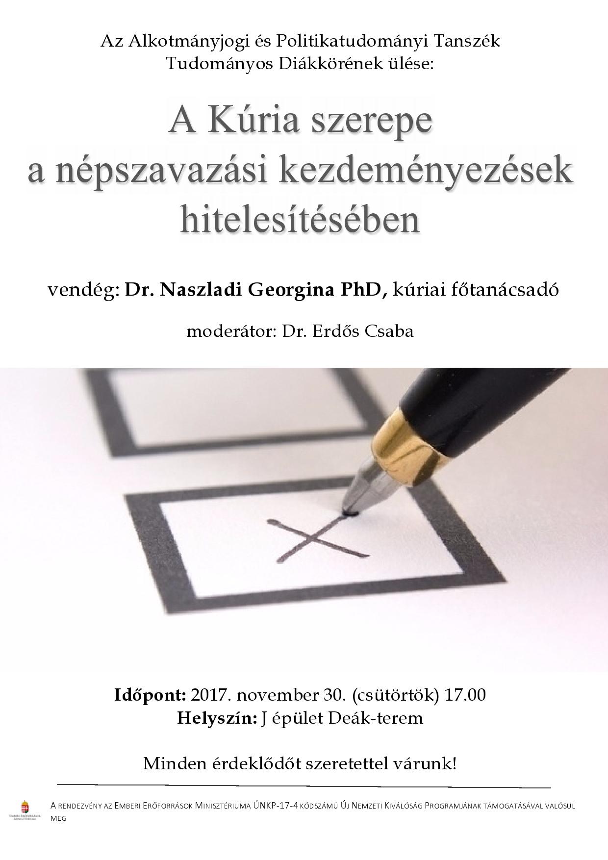Alkotmányjogi TDK - 2017. november 30.