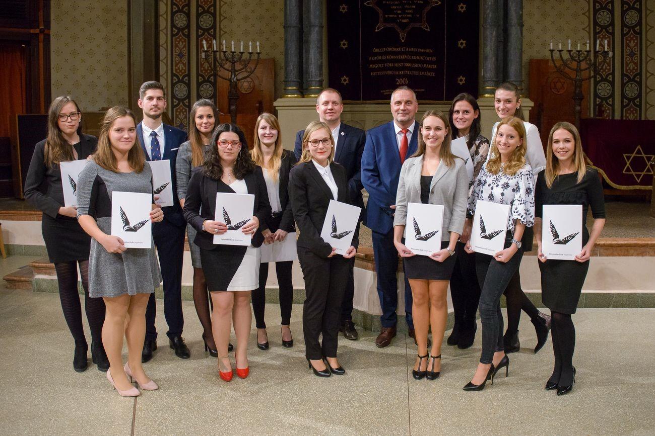 Hallgatóink elismerése - Universitas-Győr Nonprofit Kft. díjátadó